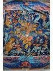 Платок Hermes шелковый белый с синим «Тропики» 1378-140