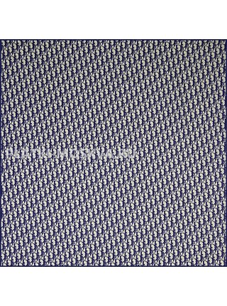 """Платок Dior шелковый белый с синим """"Monogram"""" 1980-90"""
