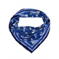 """Платок Burberry шелковый синий """"Monogram"""" 1803-90"""