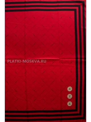 """Платок Chanel шелковый красный """"Полоска"""" 3536"""