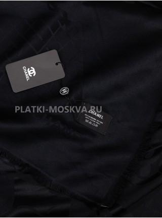 Платок Chanel кашемировый черный 732