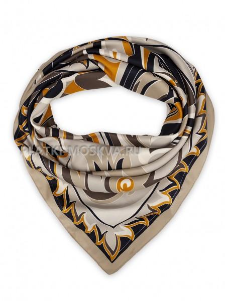 Платок Emilio Pucci шелковый светло-коричневый 3693