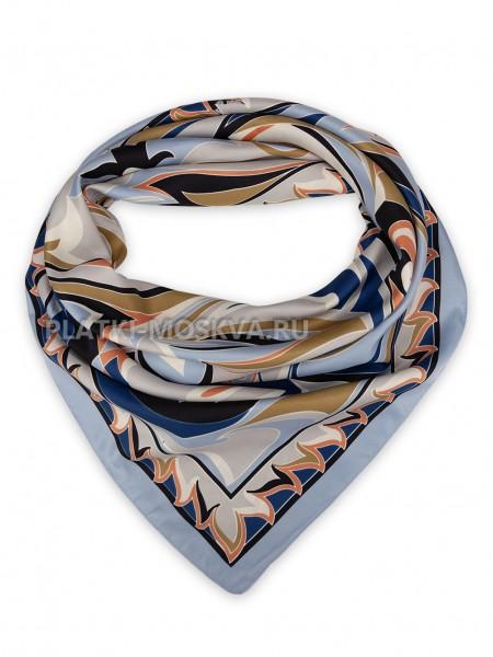 Платок Emilio Pucci шелковый голубой 3687