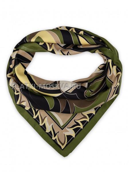 Платок Emilio Pucci шелковый зеленый 3691
