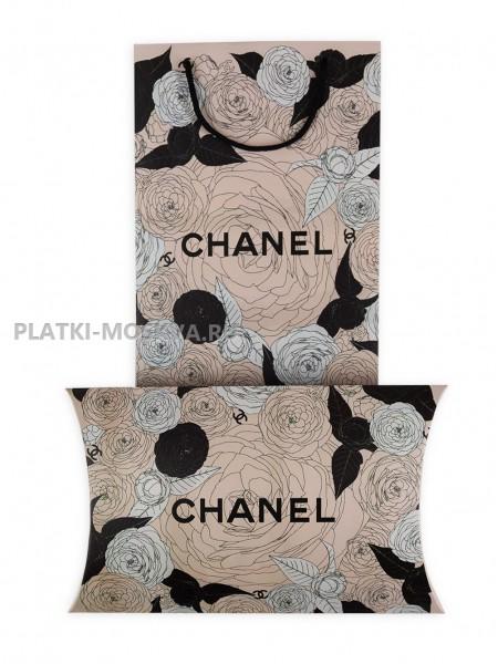 Подарочный конверт с пакетом Chanel бледно-розовый