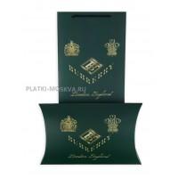 Подарочный конверт с пакетом Burberry зеленый