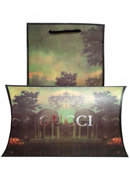 Подарочный конверт с пакетом Gucci зеленый