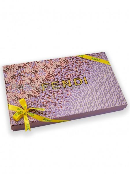 Подарочная коробка Fendi сиреневая