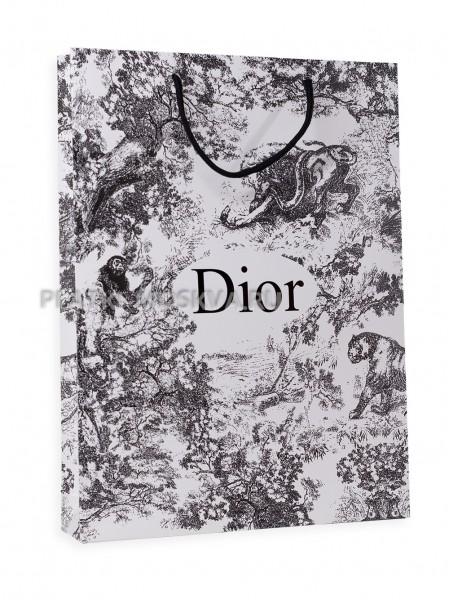 Фирменный пакет Dior бело-серый
