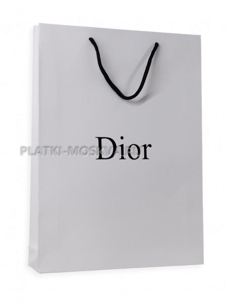 Фирменный пакет Dior белый