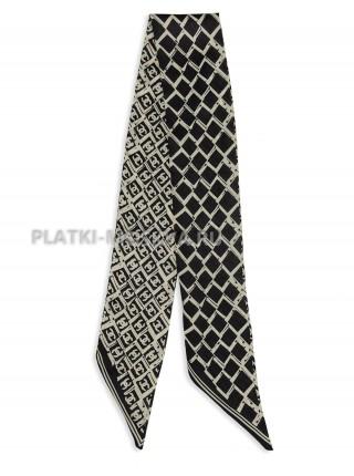 Лента Chanel шелковая серая 4209