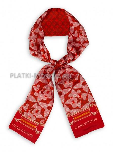 Лента брендовая шелковая красная 4226
