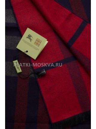 Шарф мужской Burberry кашемировый синий с красным в полоску 3466