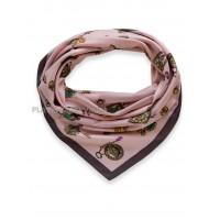 """Платок Moschino шелковый розовый """"Бижутерия"""" 3525"""