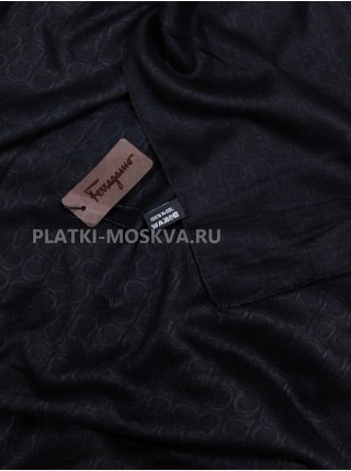 Палантин Salvatore Ferragamo черный 580