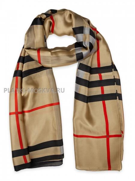 Палантин Gucci шелковый бежевый 3616