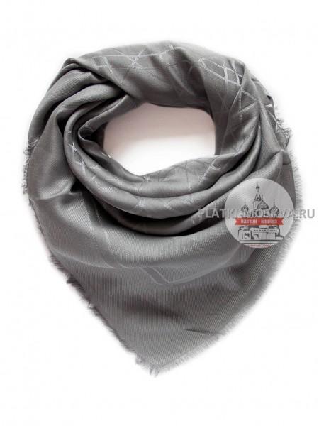 Платок Dior серый с серебром 2202