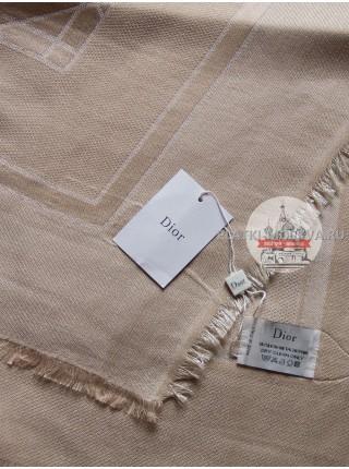 Платок Dior бежевый с серебром 2201