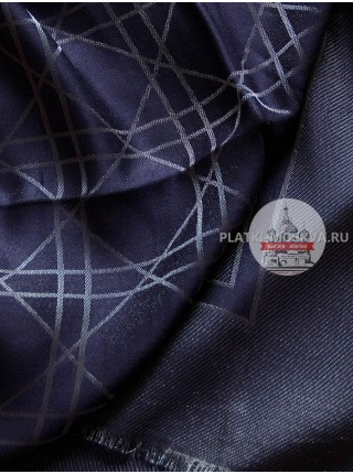 Платок Dior синий с серебром 2211