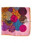 Платок Etro шелковый розовый разноцветный 608