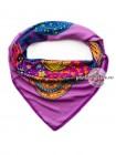 Платок Etro шелковый фиолетовый разноцветный 609