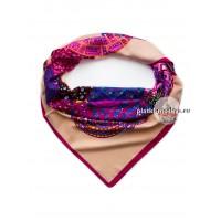 Платок Etro шелковый кремовый разноцветный 612