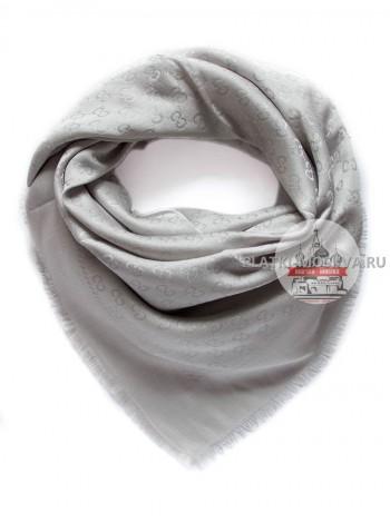 Платок Gucci серый с серебром 242