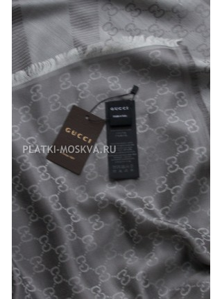 Платок Gucci кашемировый серый 272