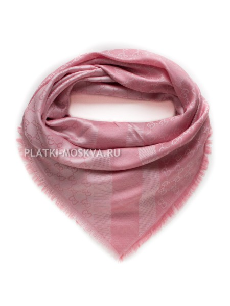 Платок Gucci кашемировый розовый 270
