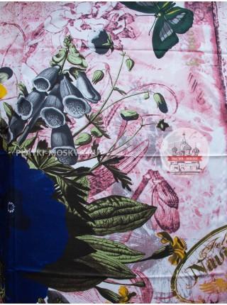 Платок Gucci шелковый розовый 629