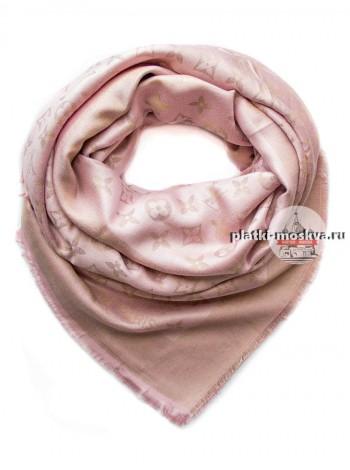 Платок Louis Vuitton бледно-розовый с золотом 163