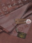 Платок Louis Vuitton коричневый с серебром 124