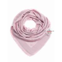 Платок брендовый бледно-розовый с серебром 134