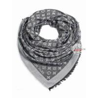 Платок Louis Vuitton темно-серый с белым 149