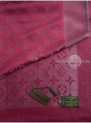 Платок Louis Vuitton бордовый с серебром 176