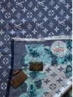 Платок Louis Vuitton синий с белым джинсовый 186