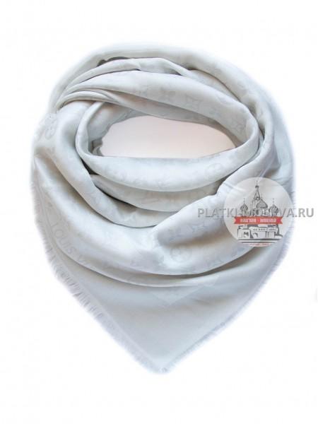 Платок Louis Vuitton белый с серебром 192