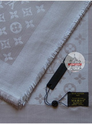 Платок Louis Vuitton темно-серый с серебром 188
