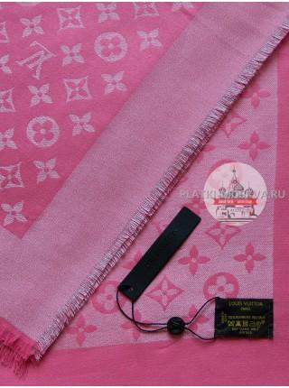Платок Louis Vuitton розовый с серебром 191