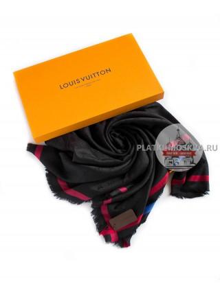 Платок Louis Vuitton черный с полоской 194
