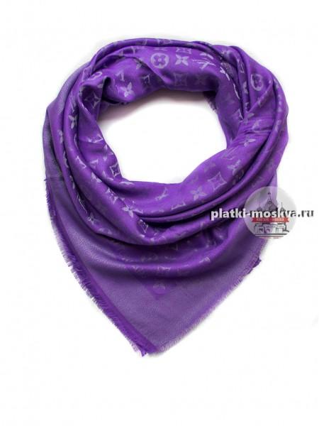 Платок брендовый фиолетовый с серебром 155