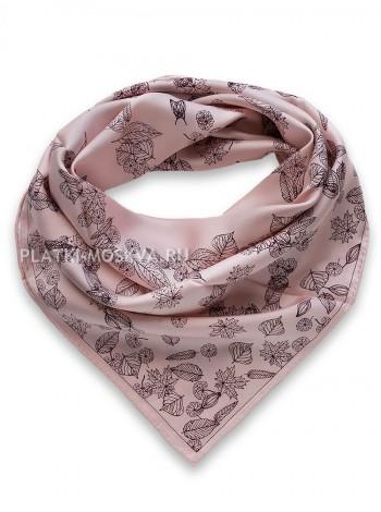 Платок Chanel шелковый розовый 1506-90
