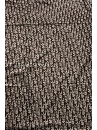 Платок Dior шелковый коричневый 1392-140