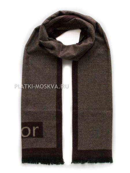 Шарф мужской Dior кашемировый коричневый 3443